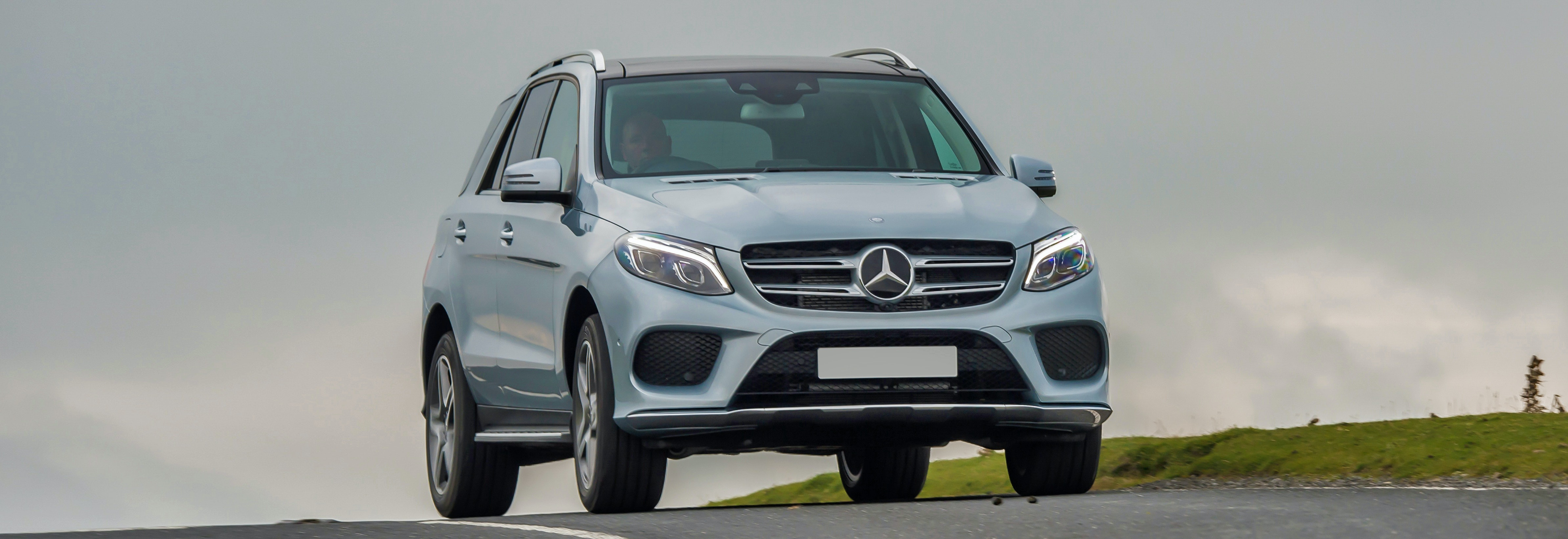 2018 Mercedes Benz Gle Silver Driving Front