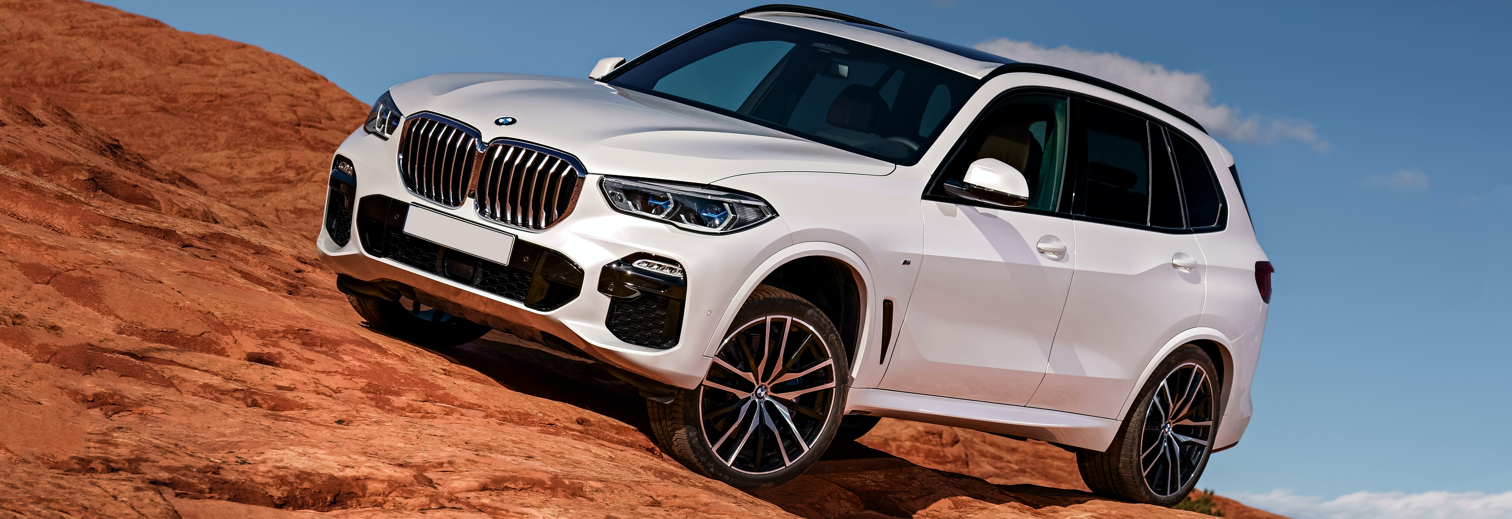 2019 Bmw X5 White Parked Front