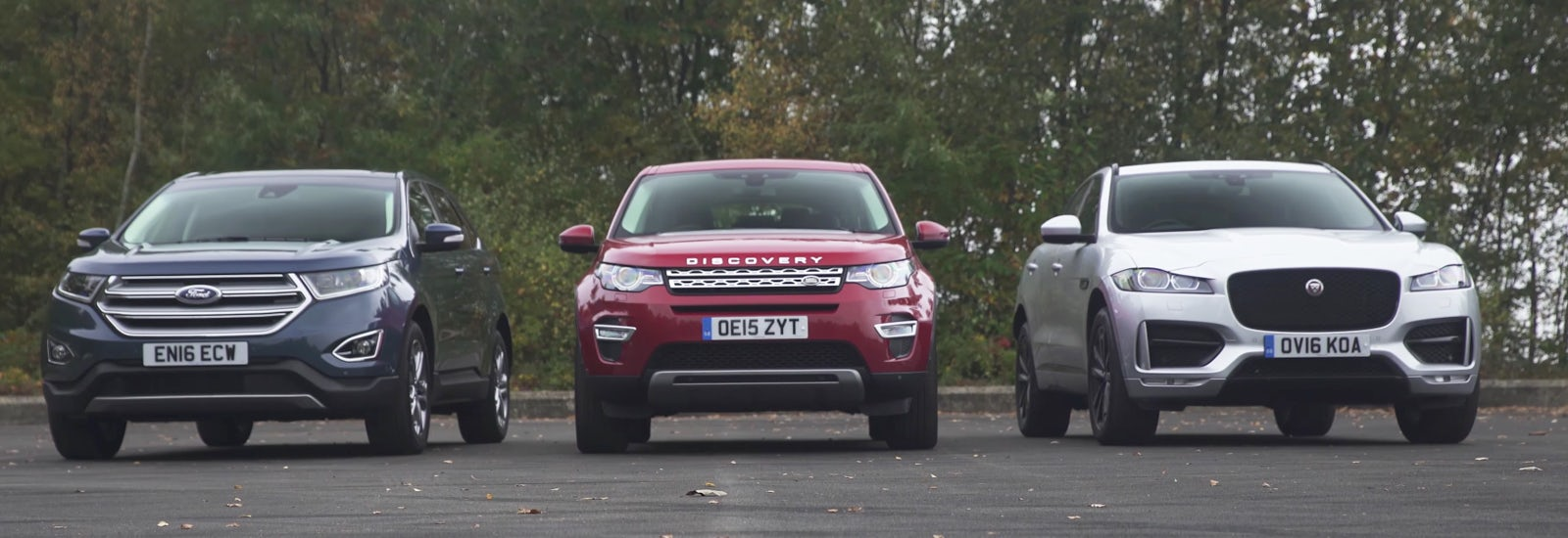 Jaguar f pace vs land rover discovery sport vs ford edge prices