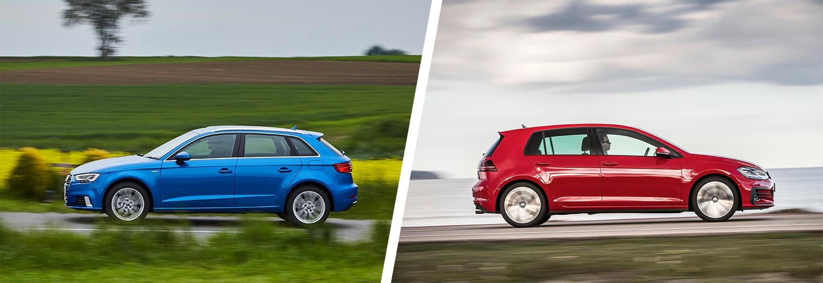audi a3 vs vw golf side by side comparison carwow rh carwow co uk Audi A3 Owner Manual Audi A3 Manual PDF