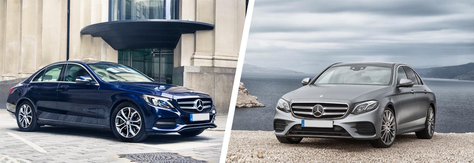 Mercedes C Class Vs Mercedes E Class Comparison Carwow