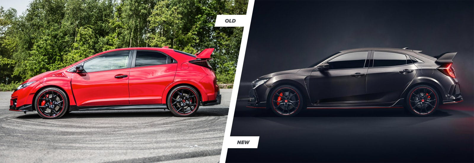 Honda civic type r new vs old compared carwow for Honda fit vs honda civic
