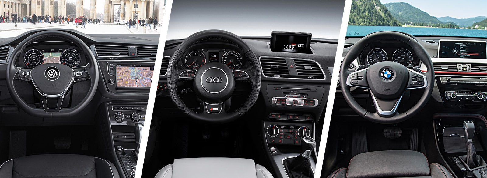 Audi Q3 Vs Vw Tiguan Bmw X1 Interior Dashboard Styling