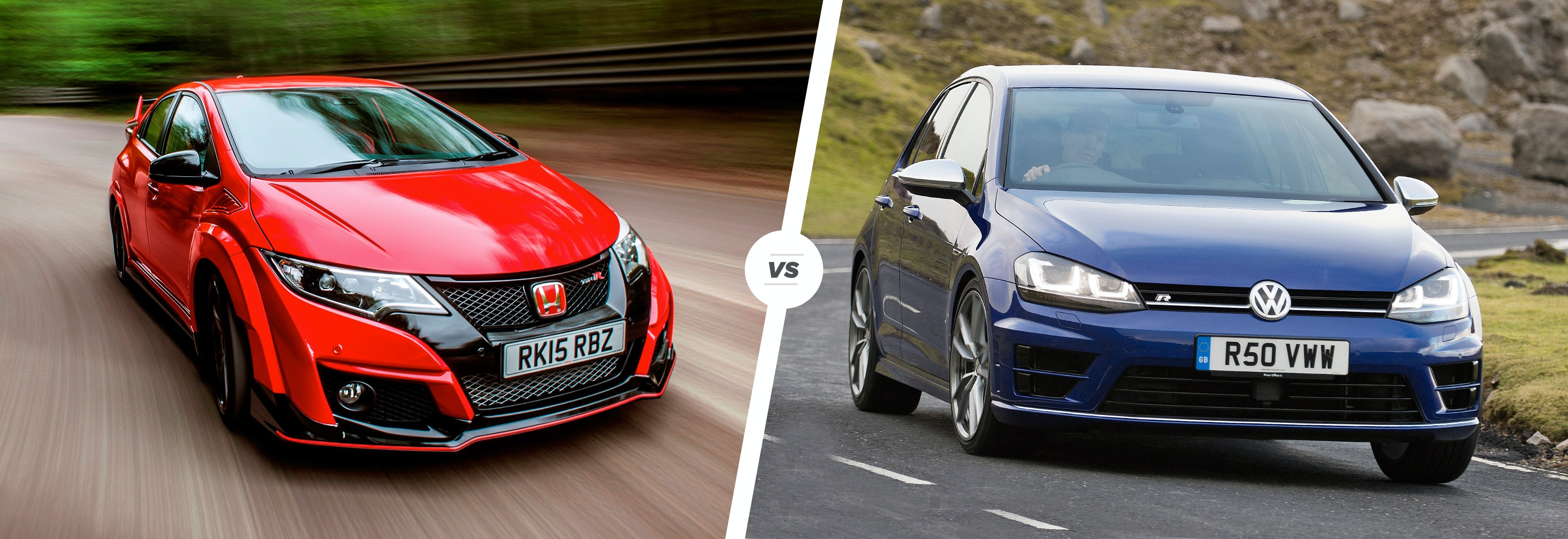 honda civic type r vs vw golf r: fast face-off | carwow